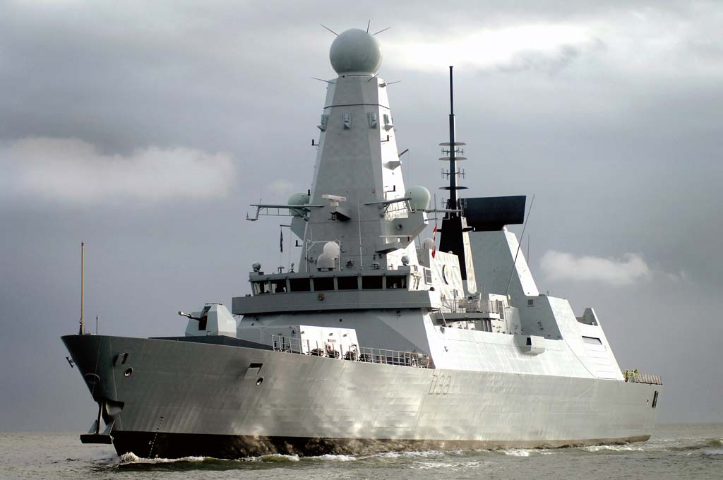 Destróier Type 45 HMS Dauntless