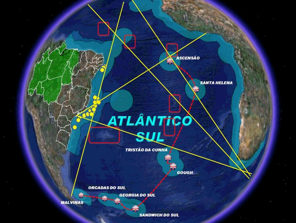 Atlântico Sul dominio UK