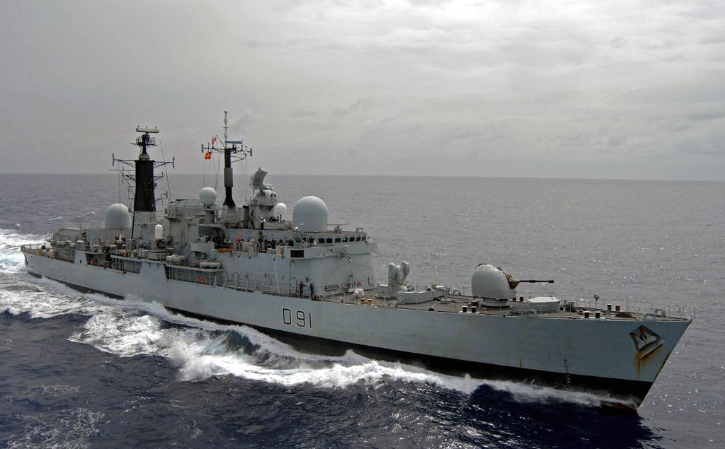 HMS Nottingham em março de 2008_foto RN