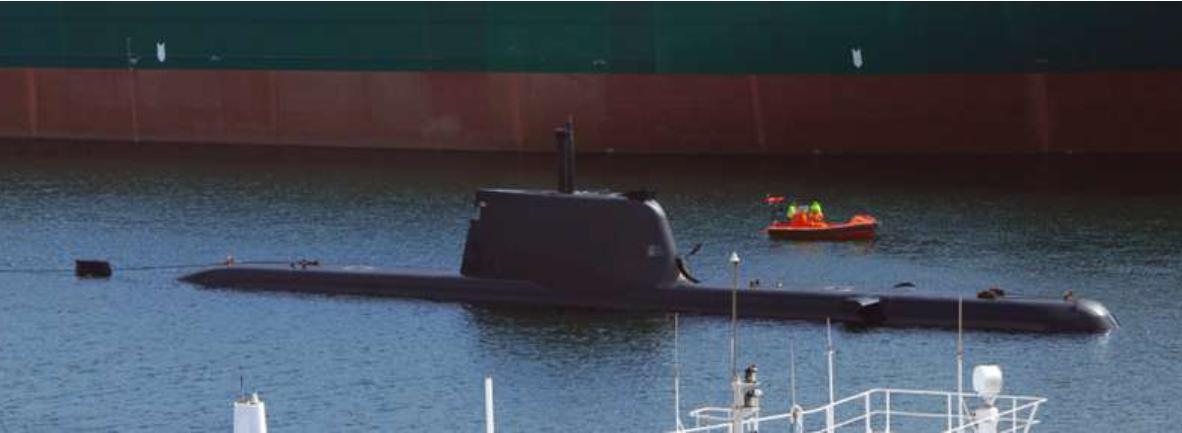 teste mergulho em Kiel - foto via shippingnews