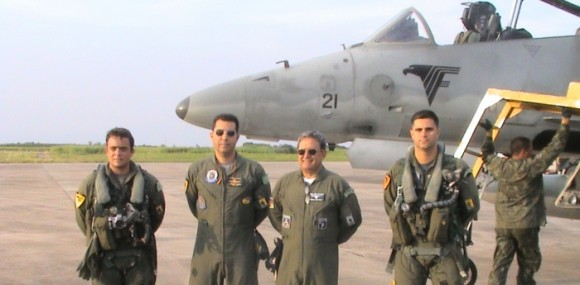 CF Fonseca Junior, Maj. Brig Machado e oficiais do VF-1