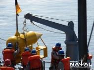 Flutuante Defletor sendo posicionado para lançamento
