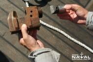 Tesoura explosiva para cortar cabos de minas mais espessos