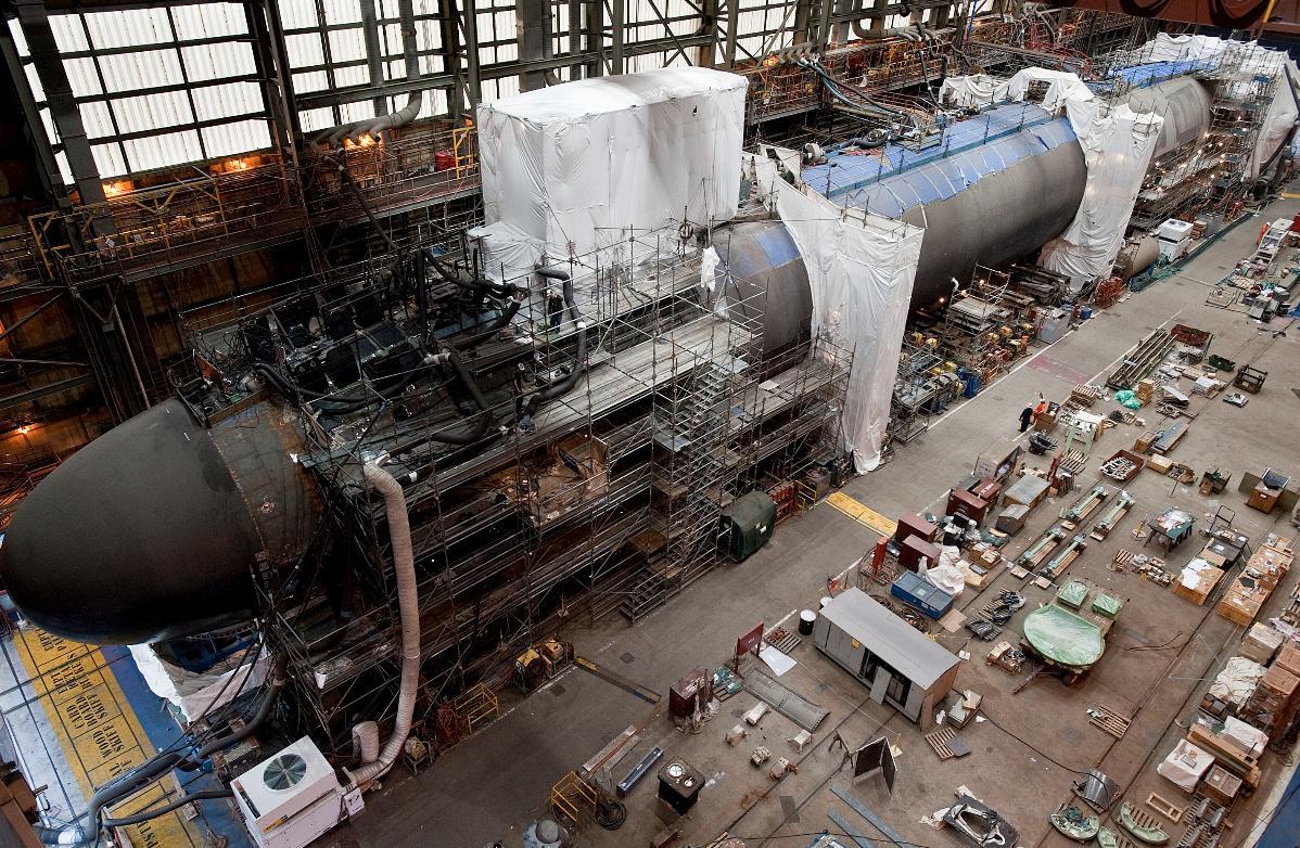 construção do California SSN 781 - foto Northrop Grumman