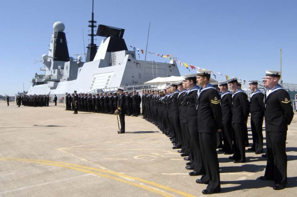 HMS Dauntless ceremony at Portsmouth Naval Base