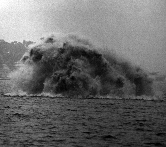 Explosão carga de profundidade