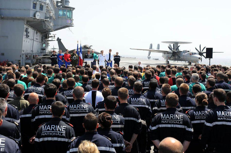 Sarkozy no CDG - foto 2 Marine Nationale