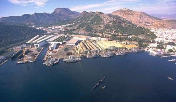 Estaleiro e fábrica de motores Navantia - foto via Tognum