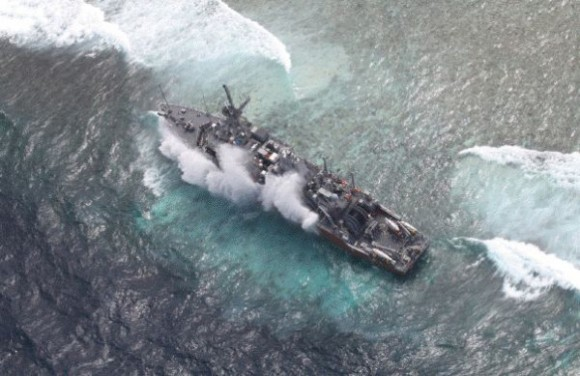 USS-Guardian-aerial-photo-at-Tubbataha-Reef