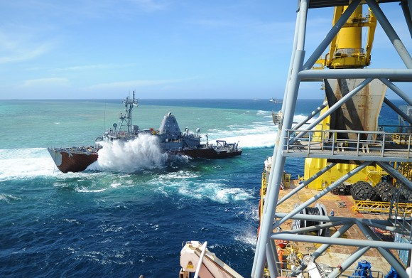 USS Guardian Salvage Operations