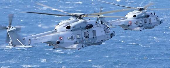 Helicópteros NH90 da Marinha Francesa - foto via Turbomeca