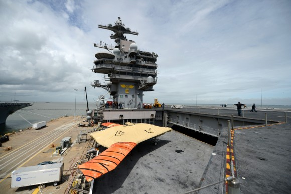 George H.W. Bush is scheduled to be the first aircraft carrier to catapult launch an unmanned aircraft from its flight deck. George H.W. Bush is preparing to conduct training operations in the Atlantic Ocean.