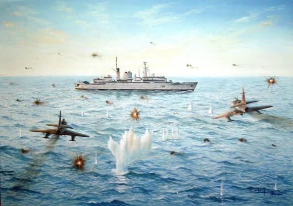 Ataque-à-HMS-Broadsword-Carlos-A-Garcia