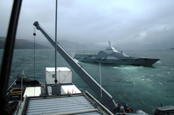HMS Visby no Joint Warrior 2013 -  foto Forças Armadas da Suécia