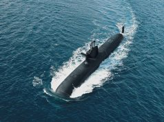 Concepção do S-80 navegando na superfície