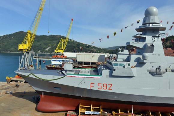 FREMM Carlo Margottini - lançamento 29 junho 2013 - foto 2 Marinha Italiana