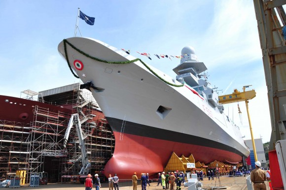 FREMM Carlo Margottini - lançamento 29 junho 2013 - foto 4 Marinha Italiana