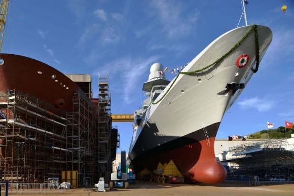 FREMM Carlo Margottini - lançamento 29 junho 2013 - foto Marinha Italiana