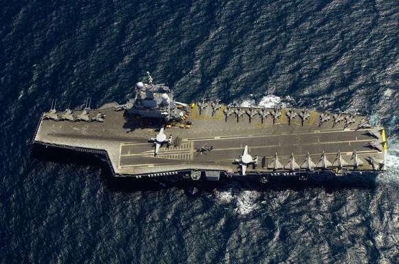 porta-aviões Charles de Gaulle - foto Marinha Francesa
