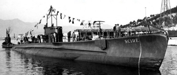 submarino italiano RSMG Scire da Segunda Guerra Mundial - foto 2 Marinha Italiana