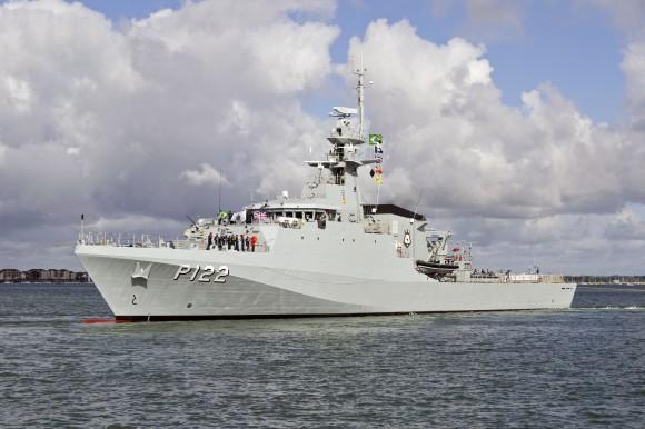 078 NEW BRAZILIAN NAVY SHIP BEGINS OCEAN CROSSING 2