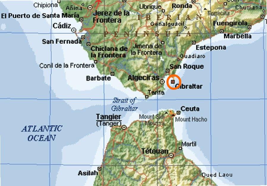 mapa espanha gibraltar As Malvinas, mais perto de Gibraltar   Poder Naval   A informação  mapa espanha gibraltar