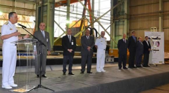 Cerimônia corte chapa SBR-2 Humaitá - foto MB