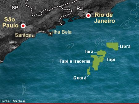 mapa pre-sal