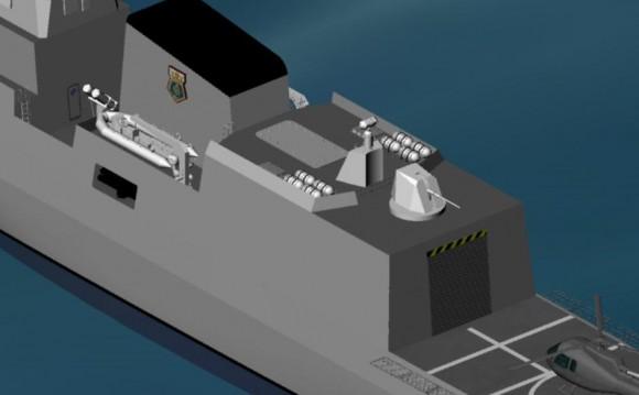 Ampliação imagem ALIDE concepção futura corveta MB