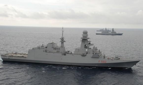 Italian_Navy_Three_FREMM_Frigate_Marina_Militare