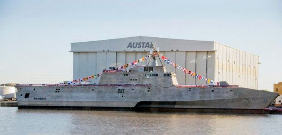Naming-Ceremony-for-USS-Coronado-at-Austal-Shipyard-USA- (1)