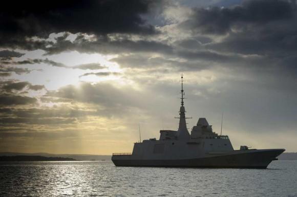 FREMM Aquitaine em foto de fevereiro de 2013 - Marinha Francesa