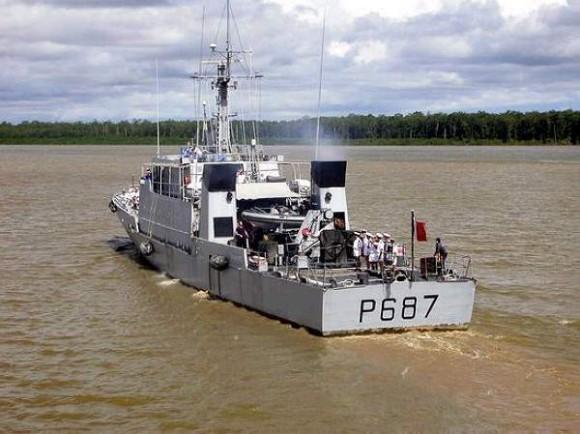 La Gracieuse - P 687 - navio-patrulha tipo P 400 - foto Marinha Francesa