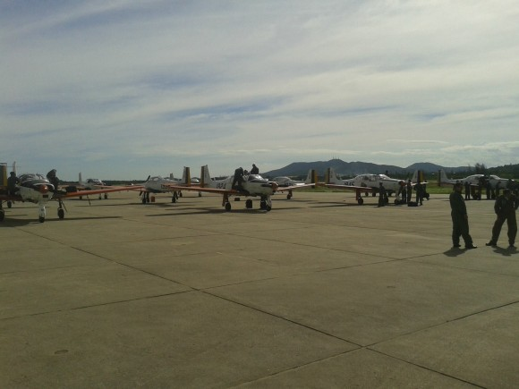 T-25C visitam BAeNSPA - 2