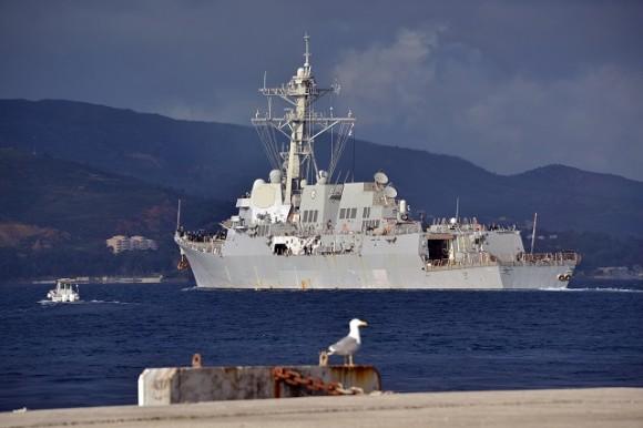 USS Truxtun Departs Crete