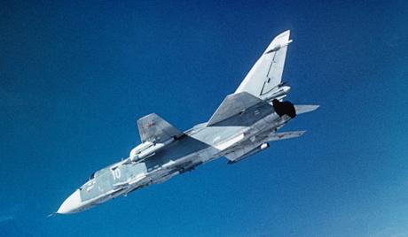 Советский бомбардировщик СУ-24