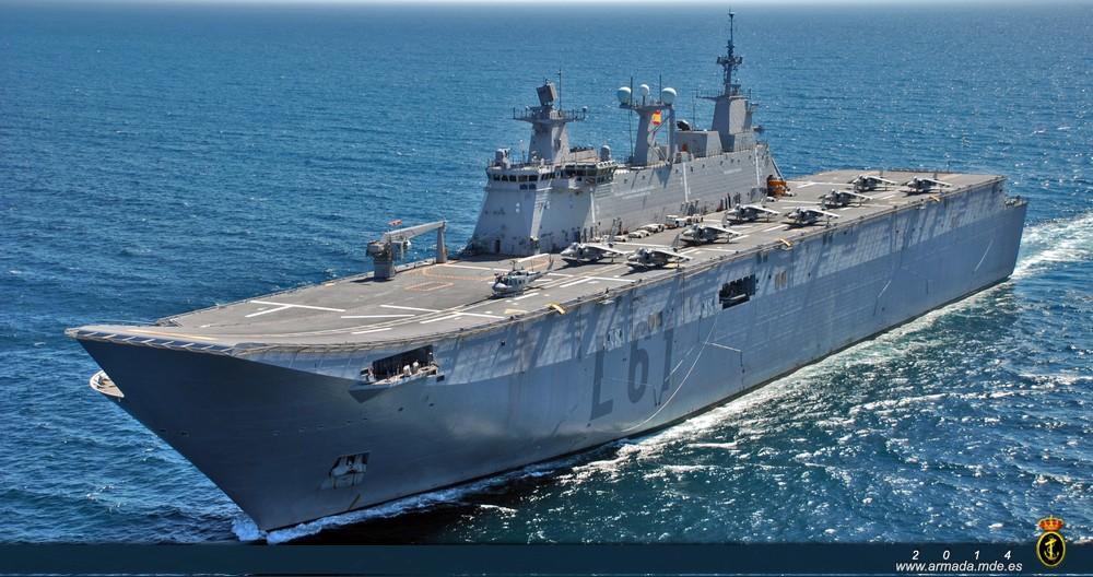 LHD Juan Carlos I - foto Armada Espanhola