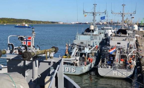 navios de contraminagem de marinhas da OTAN no Báltico - foto 3 Min Def Lituânia
