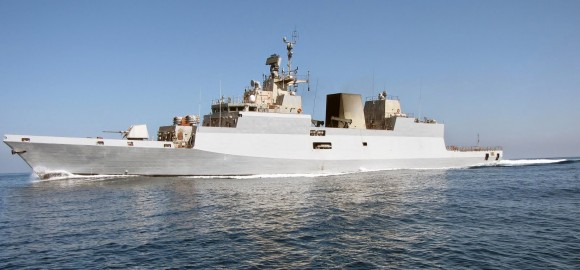 Corvette Kamorta during sea trials-701180