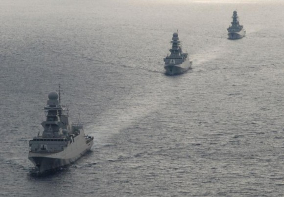 Fragatas FREMM italianas - foto Marinha Italiana