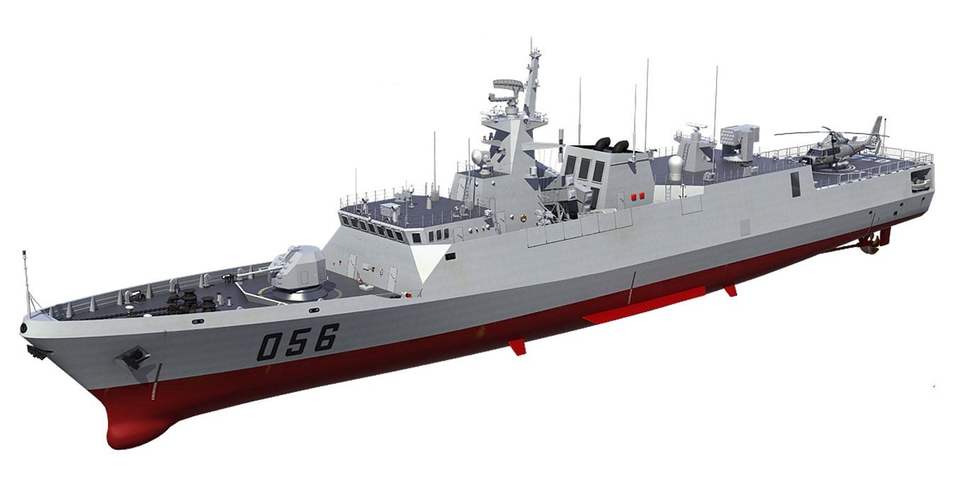 Concepção da Type 056 em 3D