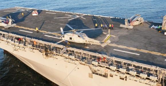 MH-16 Seahawk da MB a bordo do USS America