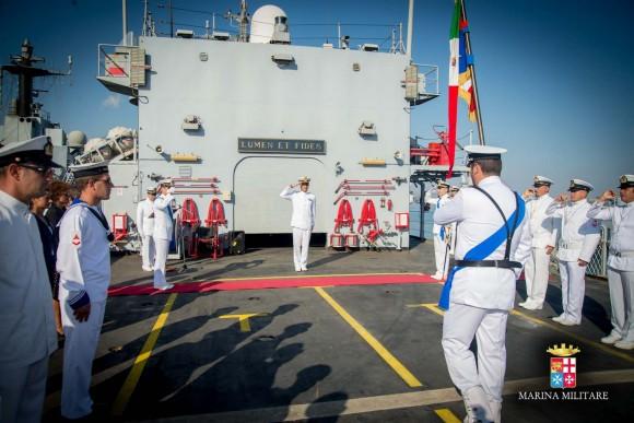 Passagem comando navios Sirio e Orione - foto 2 Marinha Italiana