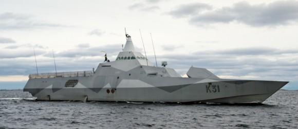 HMS Visby - foto Forças Armadas da Suécia