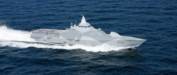 corveta HMS Nykoping - foto Forças Armadas da Suécia