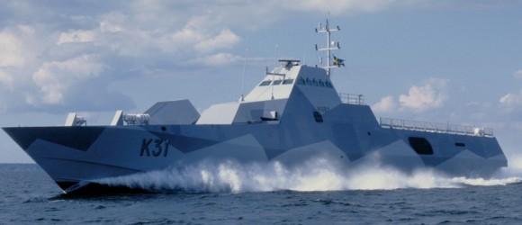 corveta HMS Visby - foto Forças Armadas da Suécia