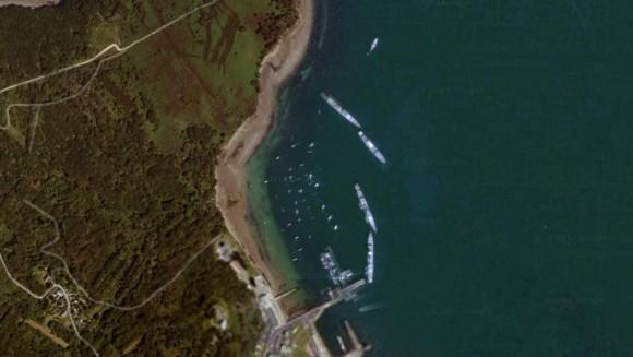 Marina da Escola Naval da Marinha Francesa em Brest - imagem via google maps
