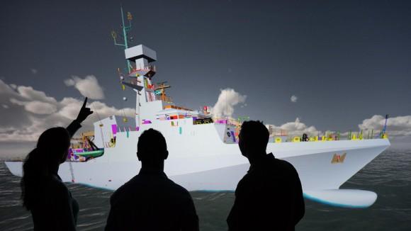 realidade virtual no projeto de navios para a RN - imagem BAE Systems