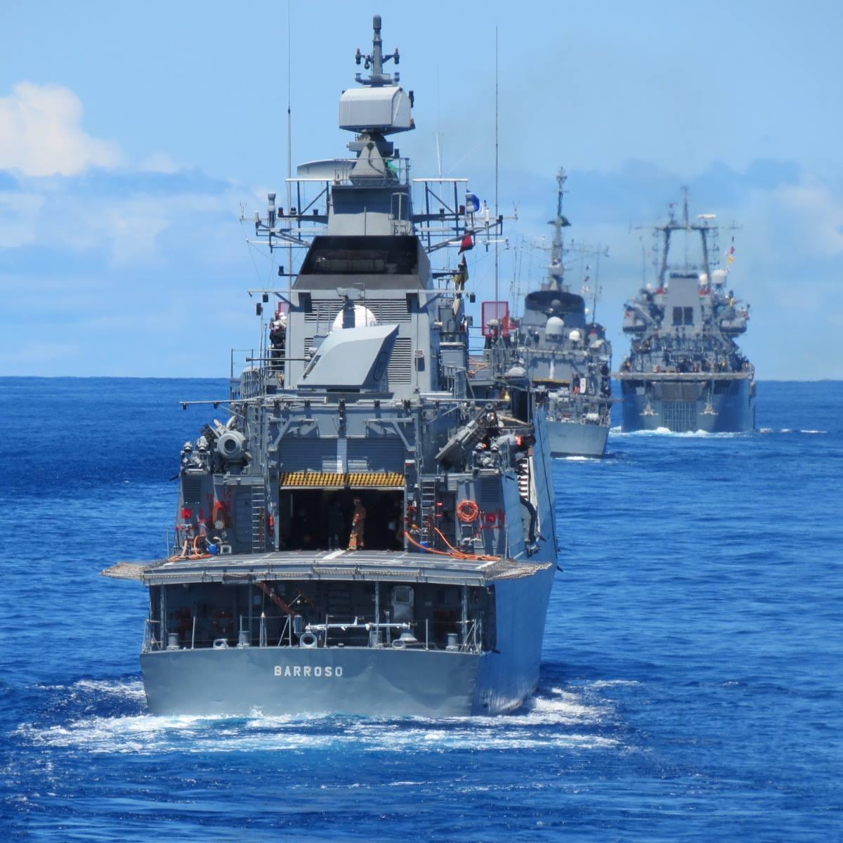 A Barroso operando com a Esquadra