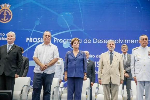 Inauguração prédio principal estaleiro submarinos - foto 2 via Blog do Planalto